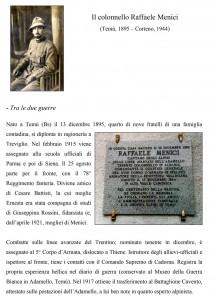 Scheda commemomorazione  colonnello Menici a cura Mimmo Franzinelli