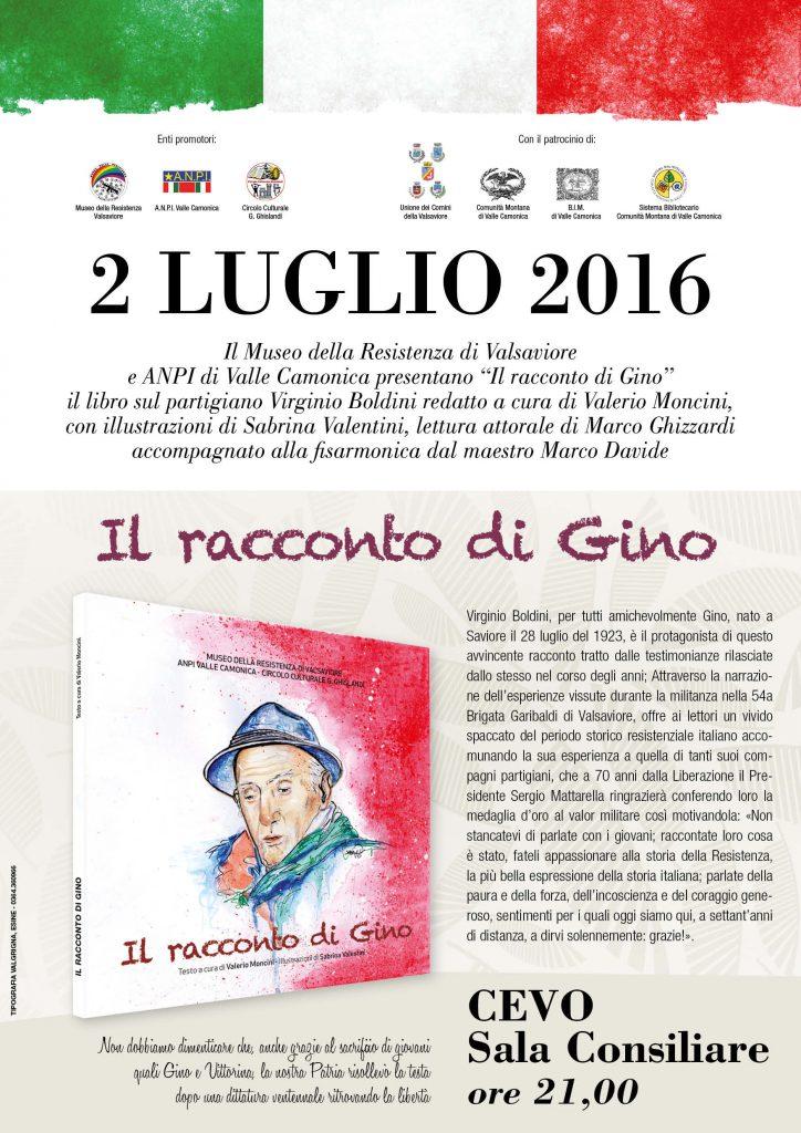 Locandina Gino 2016