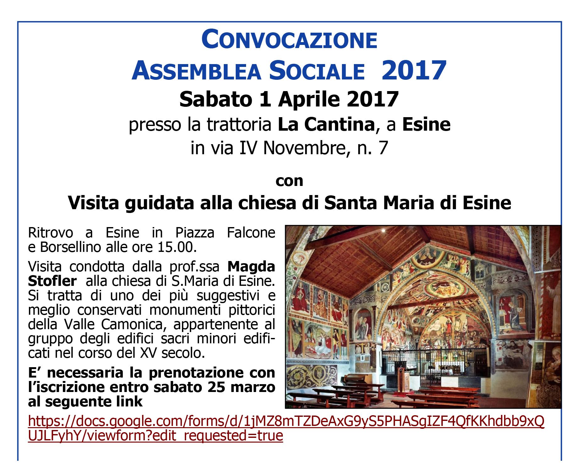 convocazione assemblea con visita