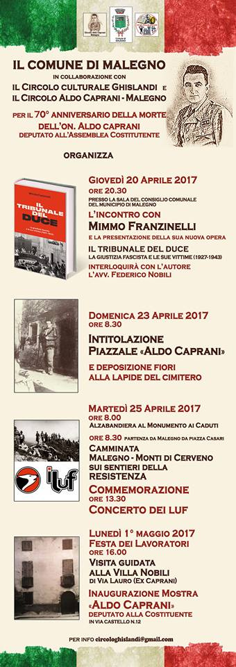 iniziative Aldo Caprani