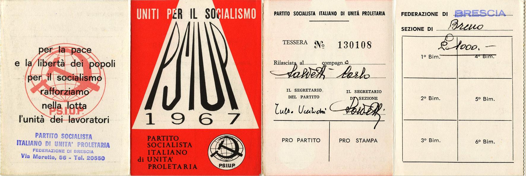 tessera 1967
