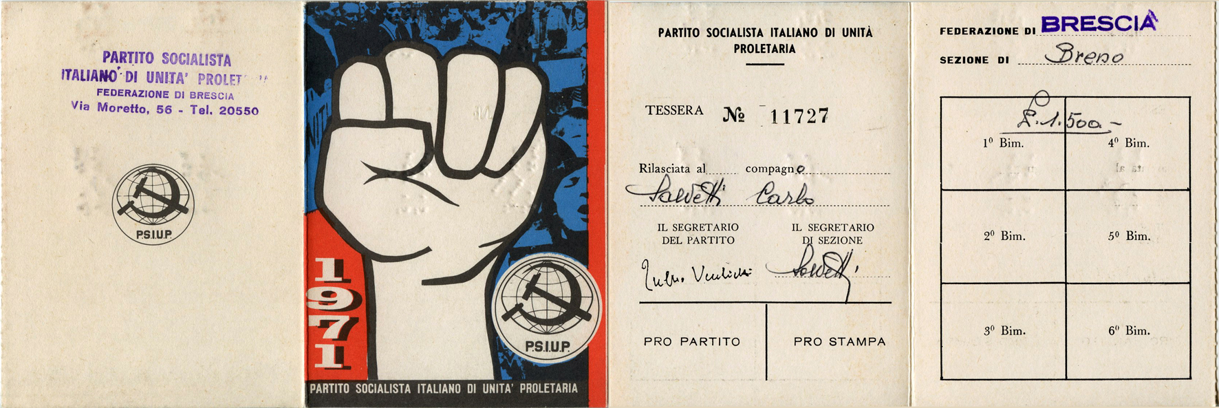 tessera 1971