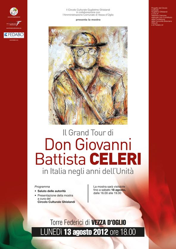 Locandina inaugurazione mostra Don G.B. Celeri _Vezza d'Oglio (BS)
