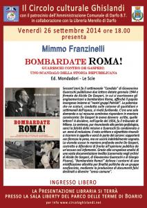 locandina sito presentazione libraria 26 settembre_bombardate Roma_ Mimmo Franzinelli
