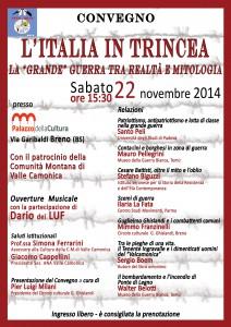 volantino l'italia in trincea_ fronte 15x21