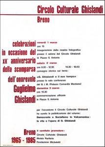 0_locandina celebrazione 20 anniversario morte Ghislandi 1985