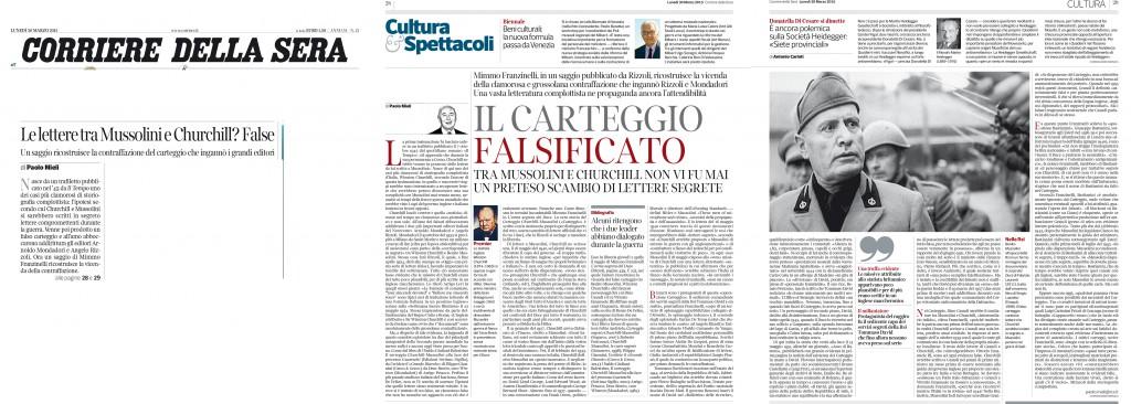 Mimmo Franzinelli Carteggio_ recensione Corriere 30-03-2015