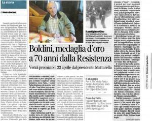 boldini medaglia d'oro a 70 anni dalla Resistenza_corriere 05-04-2015
