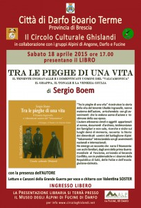 locandina presentazione libraria 18 aprile_tra le pieghe di una vita_Sergio Boem web