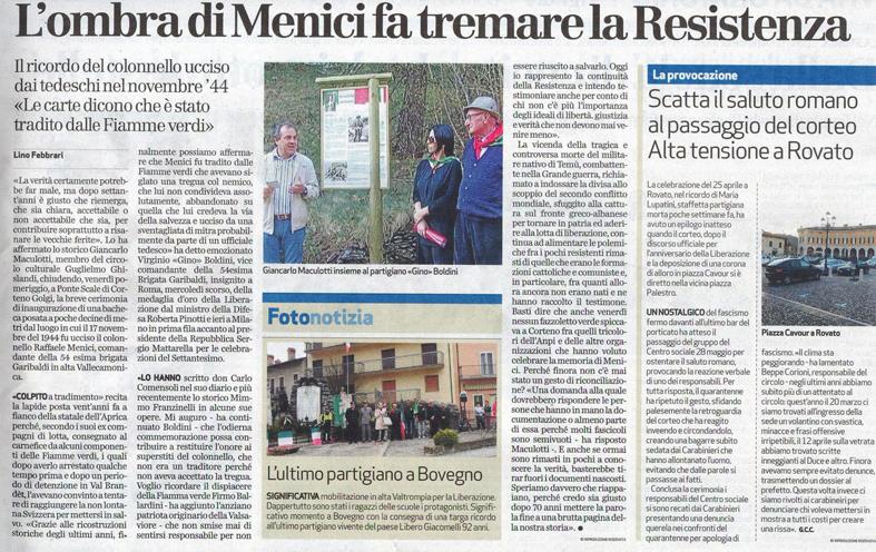 l'ombra di Menici fa tremare la Resistenza_Bresciaoggi 26-04-2015_web