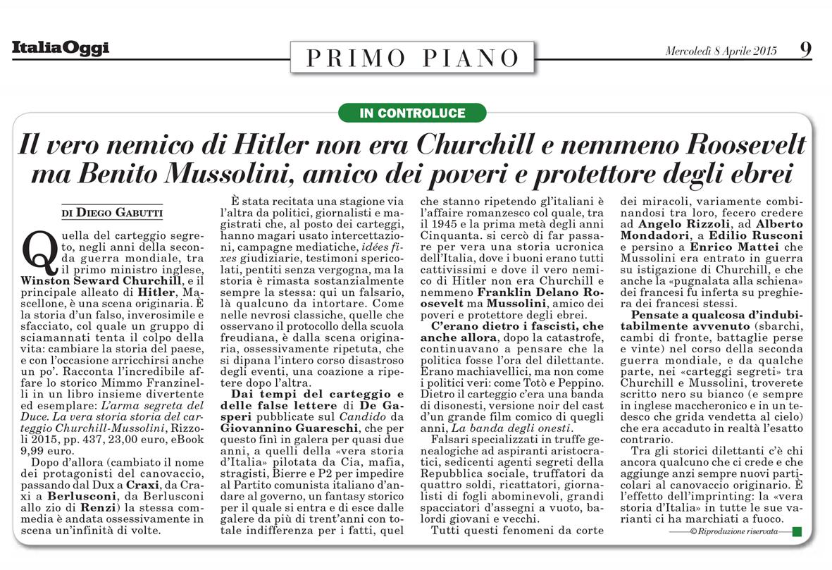Carteggio Churchill Mussolini Pdf
