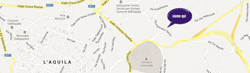 piantina libreria Maccarone- L'Aquila