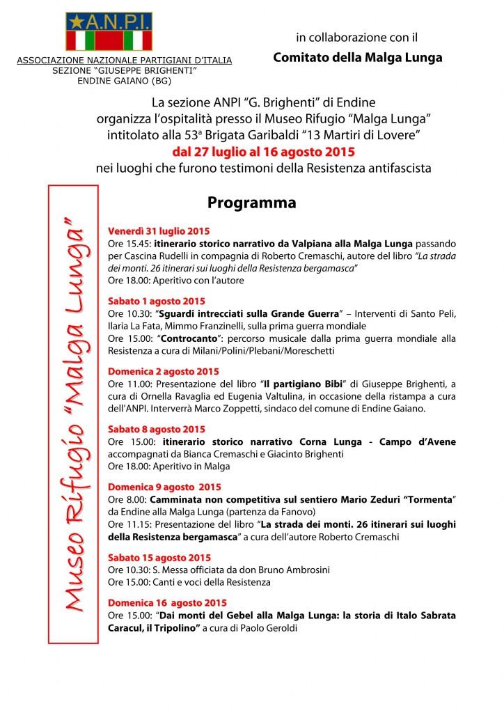 programma iniziative 27 luglio-16 agosto 2015 malga lunga