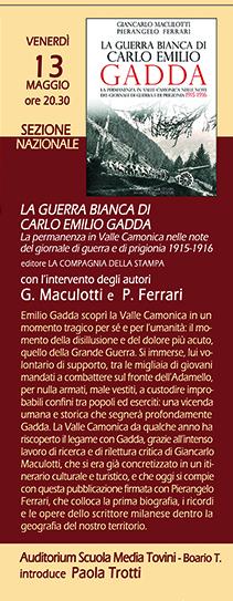 13 maggio la guerra bianca di Carlo Emilio Gadda