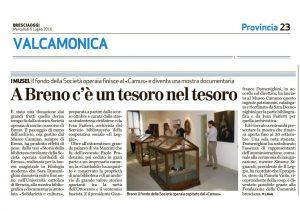 fondo società operaia al Camus_BresciaOggi 6 luglio 2016